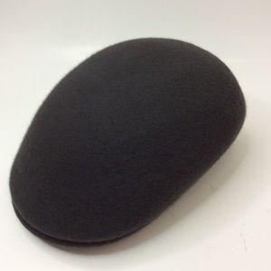 Dark Grey Wool Felt Domed Peaky Hat L